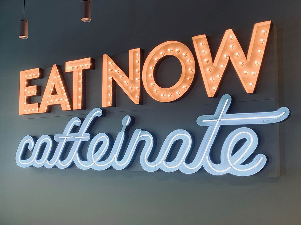 Eat Now Caffeinate
